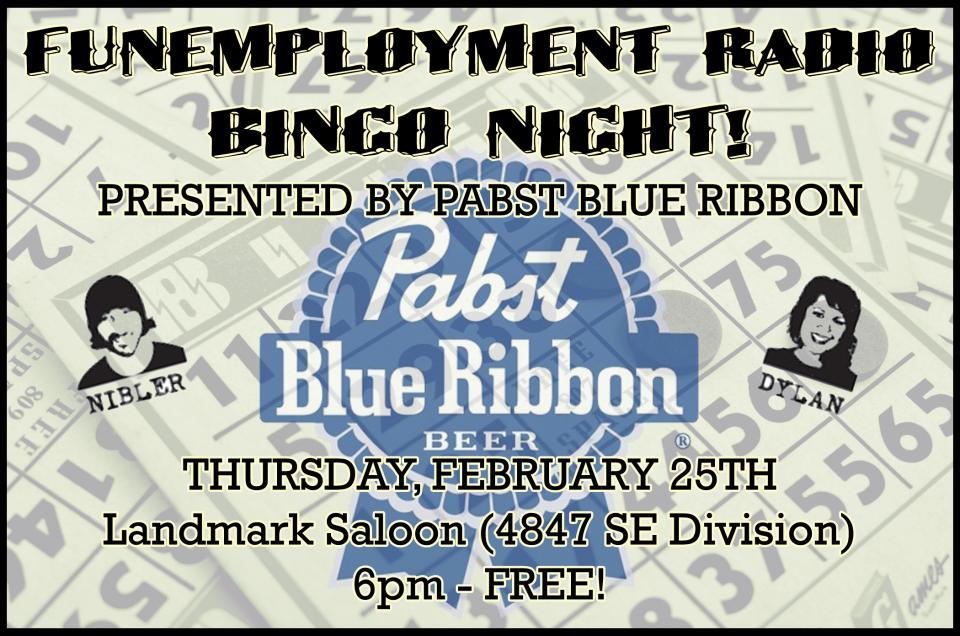 Bingo, old ladies, Funemployment Radio, Landmark Saloon, Portland, Oregon, Pabst, PBR, Pabst Blue Ribbon NW