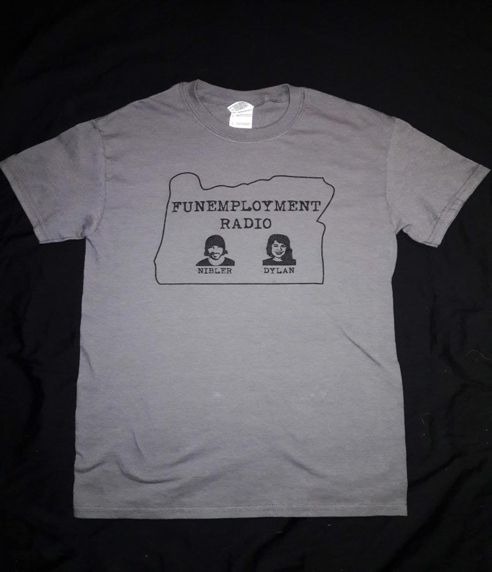 Grey Funemployment Radio Shirt