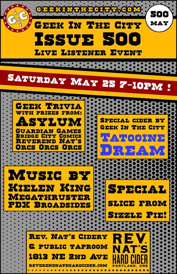 Geek in the City 500 Episode Party