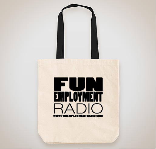 funemployment radio tote bag