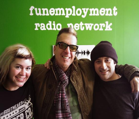 Greg Behrendt, Sarah X Dylan, Greg Nibler, Funemployment Radio, Portland Oregon, podcasting, Comedy podcast Portland, Comedy Podcast Oregon